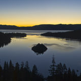 Sunrise over Emerald Bay Lake Tahoe